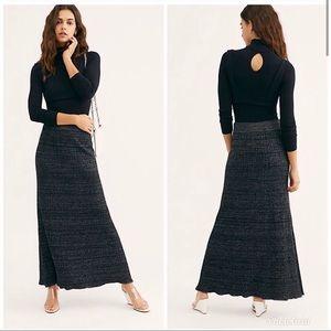 Free People Shine Bright Black Skirt. S